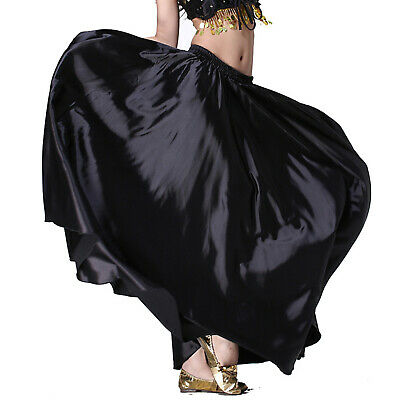 AU NEW Hot 360 Full Circle Satin Long Skirt Swing Belly Dance Costumes Tribal