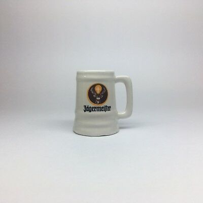 Jagermeister Souvenir ceramic mug Shot Glass 1998 Octoberfest theme graphic