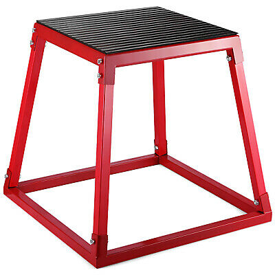 "18"" Fitness Exercise Plyo Jump Box Step Cross Plyometric Sports Muscle Training"
