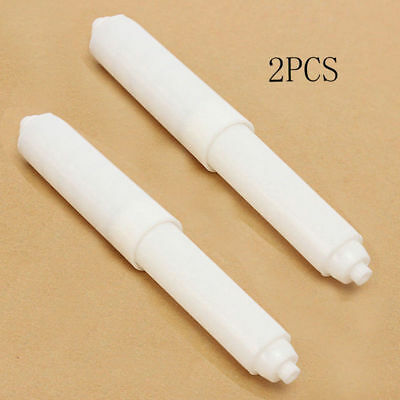 2 Pcs Paper Roll Holder Roller Spindle Spring Loaded Insert Toilet Replacement
