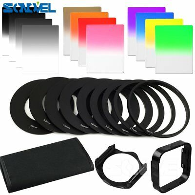 24 in1 Graduated ND2 ND4 ND8 ND Color Filter Adapter Ring Kit for Cokin P Series