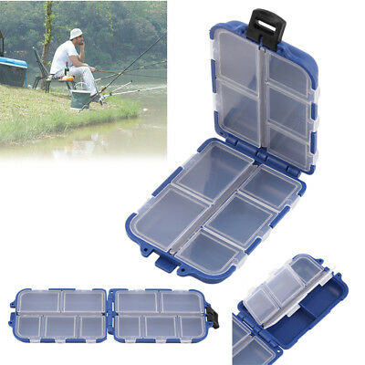 Portable 10 Compartments Fishing Lure Spoon Hook Rig Bait Storage Case Box