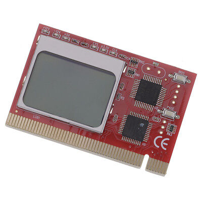 Practical Red PCI Interface LCD Showing Debug Card Motherboard Diagnostic Cards