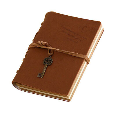 Vintage Magic and Key Chain Retro PU Leather Travel Diary Notebook Travel Y8E3