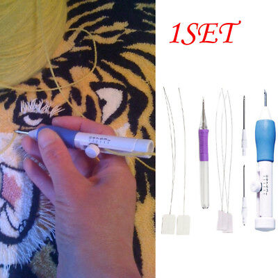 1Set 3Size DIY Embroidery Punch Needle New Stitching Needle Tool Threaders Craft