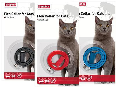 Beaphar Plastic Waterproof Cat Kitten Flea Collar 4 Month Protect