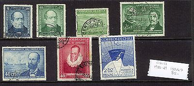 Chile - 1945 Issues - Used