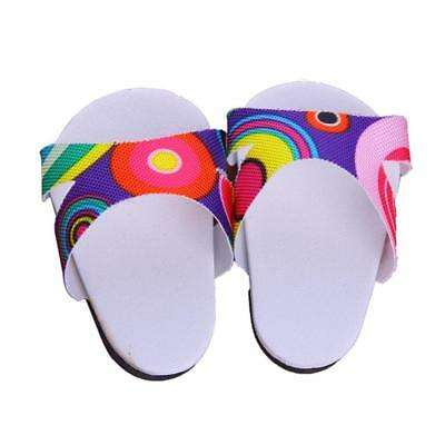 Beach Sandals Shoes Slippers for 18inch American Girl Doll Clothes Accessory