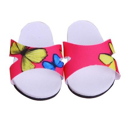 """Sandals Shoes Slippers for 18"""" American Girl Dolls Summer Clothes Butterfly"""