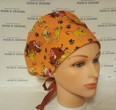 Lion King   /pixie  Hat/surgical / Scrub /chemo  Hat