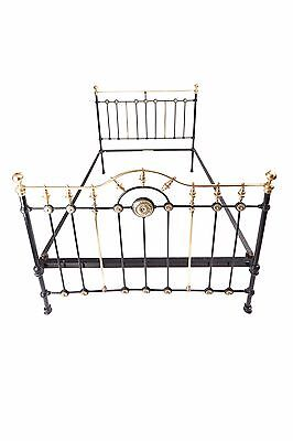 Fantastic Victorian 5ft King Size Brass and Iron Bed
