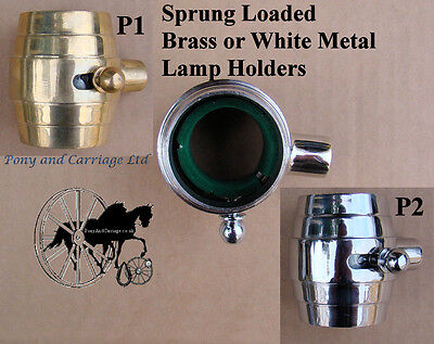 Horse Carriage Coach Lamp Holders Brackets Brass  Or Stainless Style P1 – P2