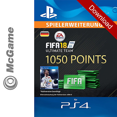 FIFA 18 1050 FUT Points Pack - Ultimate Team | PS4 Code | PSN | Download Key