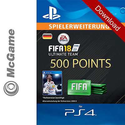 FIFA 18 500 FUT Points Pack - Ultimate Team | PS4 Code | PSN | Download Key
