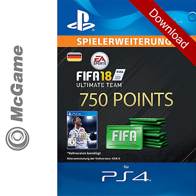 FIFA 18 750 FUT Points Pack - Ultimate Team | PS4 Code | PSN | Download Key