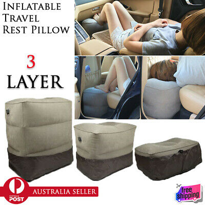 New Inflatable Portable Pad Sleep Pillow Kids Bed Flight Travel Foot Rest Pillow