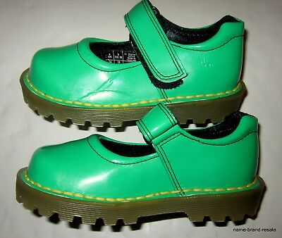 DR MARTENS Little Girls US Size 9 M Green Patent Leather Mary Janes Shoes DOC