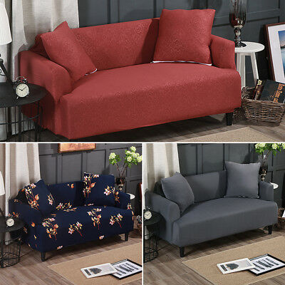 1 2 3 Seater Stretch Elastic Slipcover Sofa Cover Couch Furniture Protector Fit