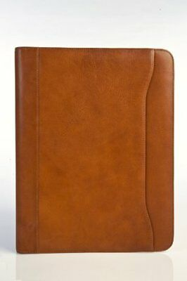 "Tony Perotti Unisex Italian Cow Leather 8.5x11"" Notepad Business Writing Padf..."