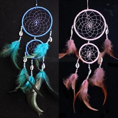 Indian Handmade Dream Catcher Feather Wall Car Hanging Decor Ornament Craft US