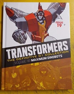 "TRANSFORMERS  DEFINITIVE "" G1"" COLLECTION, = ISSUE 19 MAXIMUM DINOBOTS vol 40"