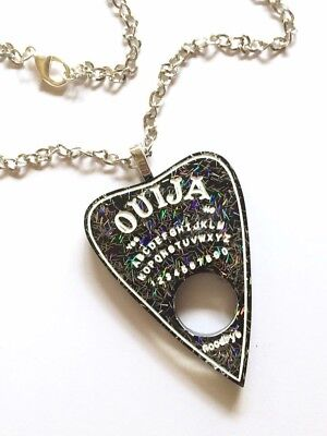 Punk Goth Pagan Wiccan Witch Spirit Board Ouija Planchette Pendant Necklace