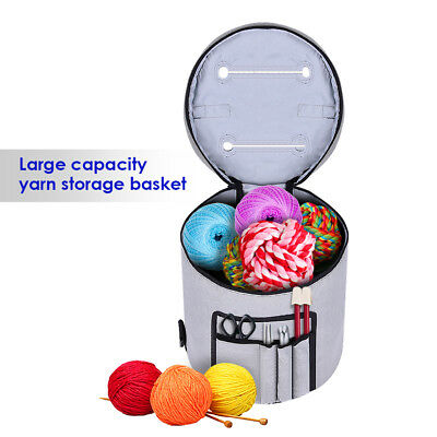 Knitting Bag Yarn Storage Organizer Protects Crochet Thread Wool Yarn Case