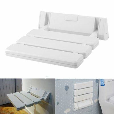 Folding Wall Mounted Bathroom Mobility Folding Shower Drop-leaf Seat Max.130 kg
