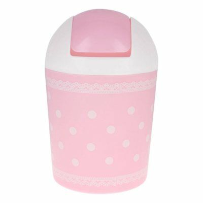 Design of lace garbage pink garbage can Y8E6