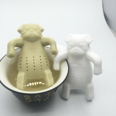 Silicone Tea Coffee Infuser Pug In A Mug Teapot Herbal Spice Strainer Filter New