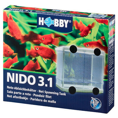 Hobby Nido 3.1 Net Spawning Breeding Box Tank Baby Fish Fry Hatchery Aquarium