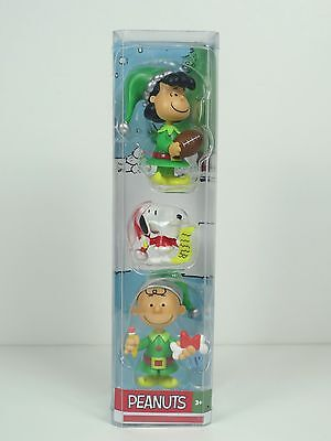Peanuts 3 Piece Christmas Figurine Set Lucy Snoopy And Charlie Brown NIP