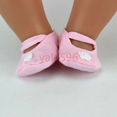 pink soft shoes Wearfor 43cm Baby Born zapf (only sell shoes)