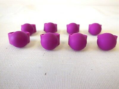 Finger Covers (8 sets) for Steel Tongue Drum/ Handpan,60 Rubber Hardness, purple