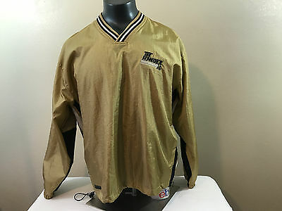 HOLLOOWAY The Hanger Sweatshirt raincoat SZ large L  V-Neck w/ Gold and Black