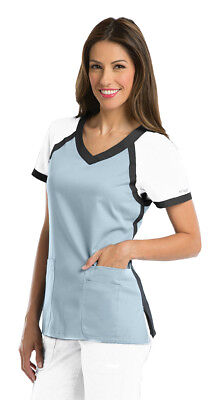 Grey's Anatomy Active Women's 41435 Color Block V-Neck Scrub Top