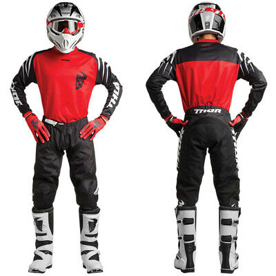 Thor SECTOR ZONES MX Motocross Enduro Cross Combo Jersey+Hose red/black 2018