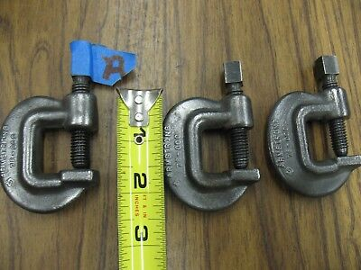3 ARMSTRONG TOOLS 78-000 Drop Forged C-Clamp