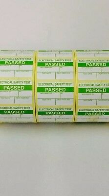 PAT Test Labels x 2000 Passed Stickers Electrical *FREE P+P*