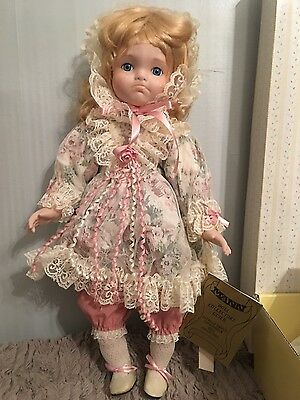 "Seymour Mann Connoisseur collection 19"" porcelain doll ""Courtney"" box and COA"