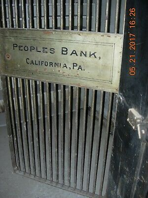 Vintage/antique California, Pa Bank Vault Door And Gate