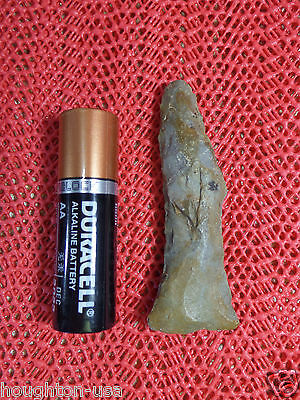 "RARE Native American ""Dog-Legged"" Stone Pipe Drill. Bath Co.Kentucky  AACA"