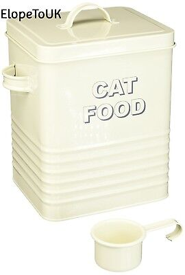Lesser and Pavey 20cm Home Sweet Cat Food Storage Container, Cream
