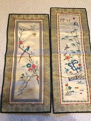 Vintage Chinese Silk Panels