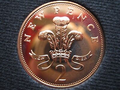 PROOF 1971 British decimal 2p Two pence coin