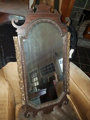 """32"""" Vintage Wooden Hanging Wall Mirror"""