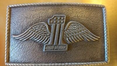 HARLEY DAVIDSON VINTAGE 50'S ? WINGED #1  BELT BUCKLE 3D seems to be rare