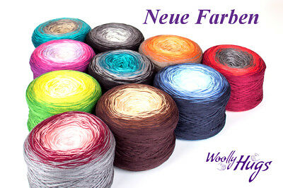 Woolly Hugs Bobbel Cotton Wolle 200g Wolly 4 Fach Farbverlauf Pro