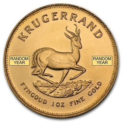 Random Year 1 oz Gold South African Krugerrand Coin