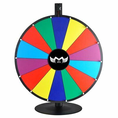 "MegaBrand 24"" Tabletop Color Dry Erase Spinning Prize Wheel 14 Slot"